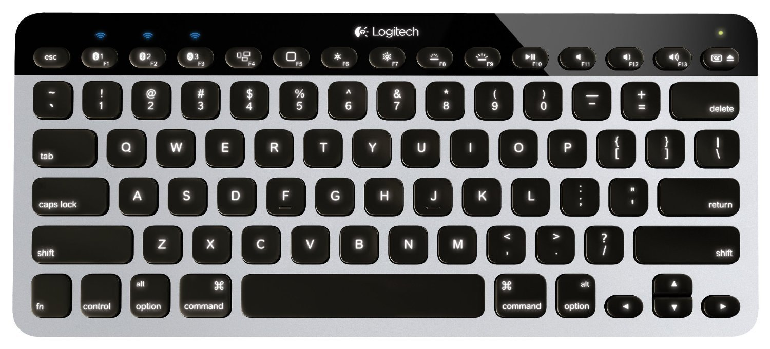 Sharp, bright backlit keys on Logitech's K811 keyboard. Great, simple design!